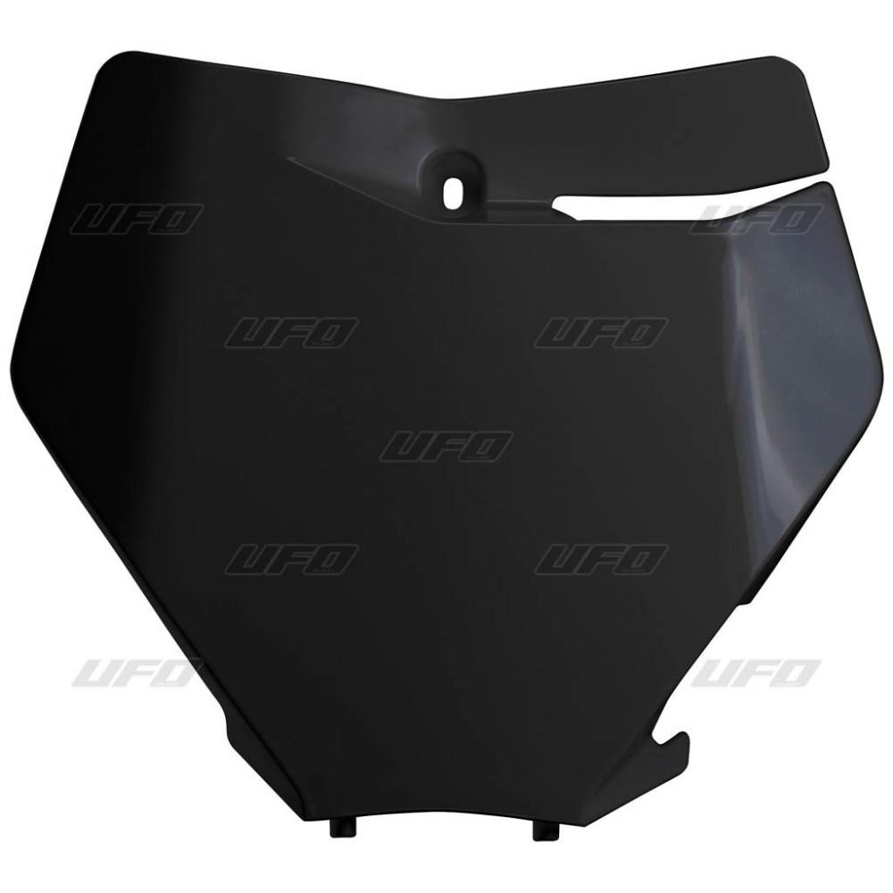 Black for 02-06 KTM 65SX UFO Front Number Plate
