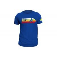 T-shirt blu realizzata in cotone 100% - MG04460