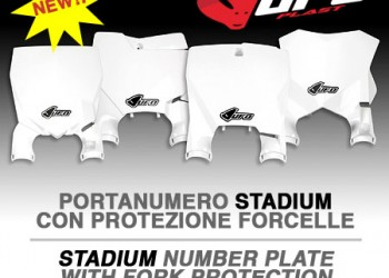 New: Stadium front plate holder with fork protection