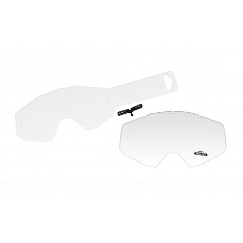 Clear lens + 10 tear off's for EPSILON goggle - LE02209